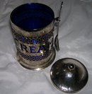 Large Decorative- Made in England Silverplate Creamer and spoon