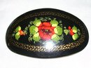 Vintage Russian Artist signed Handcrafted-Handpainted Hair clip