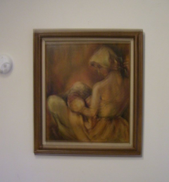 Portrait- Woman Breast Feeding Infant-- Douglas Ball - California- 20 th century-24