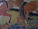 Weidende Pferde111 , After- Franz Marc-Gernmany ( 1880-1916)