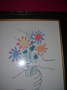 Pablo picasso petite fleurs dated on canvas for Picasso petite fleurs