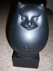 A Black Cat Sculpture from The Museum of Fine Arts in Boston store