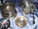 Five pieces of Vintage silverplate Items