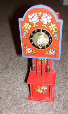 A Linden- Blackforest wind up wall  clock with key