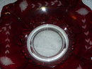A Vintage Ruby Cut to Clear- glass Fruit Bowl