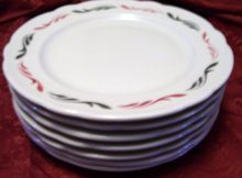A set of 10 Jackson Custom China floral Resturant plates.