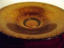 Brown metalic 16 inch  Decorative art glass fruit / display bowl