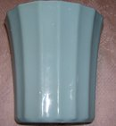 ''Alamo  Art Pottery ''Vitreous China '' Light Blue  oval Pottery Vase