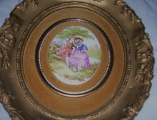A ''Jean-Honore '' French 1732-1806- Transfer Victorian Art Print on Porcelain