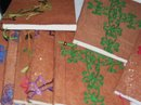 Sudanese Religion  ( Pray for Sudan ) handicrafts-Embrodered solt leather bound- Notebooks/ Album holder