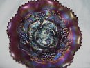 Vintage'' Northwood, Grape and Cable,''  Variant '' Amethyst Bowl