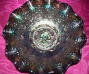 Fenton, '' Persion Medallion'' Signed, Fenton, Dark Amethyst Bowl