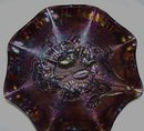 Vintage unsigned Imperial '' Pansy''  Purple Bowl