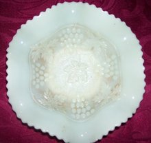 Vintage Northwood, Variant and Rare Custard Glass ''Grape and Cable'' Art Glass Bowl