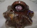 Northwood,''Star of David and Bows''Carnival Glass, Amethyst Bowl