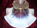 Vintage, Fenton,French Opalescent, Pedestal Bowl