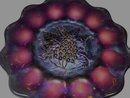 Vintage,  Imperial ,'' Heavy Grape''/ Lattice 8.875 inch Amethyst Plate