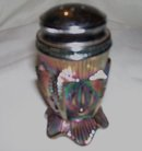 Vintage, Fenton, '' Carnival glass, Colbalt Blue Salt Shaker