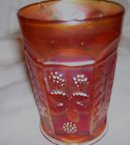 Fenton, '' Butterfly and Berry '' Marigold Tumbler