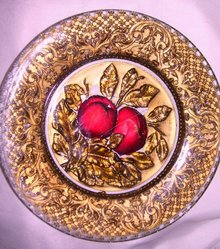 Vintage Dugan, Goofus-Intagilo ''The Two Apples'' 8.50 inch Plate