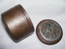 Vintage, Metze Pewter, OldTobacco Tin.Snuff Box with/ 1874  Metzke copyrwtight