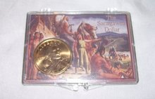 The Sacagawea dollar, Year 2000, Denver Mint in case