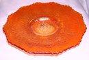 A Fenton , Persion Medallion, Pumpkin Marigold, 6.00 inch Plate