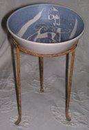 A  Cubism Art Bowl, Signed