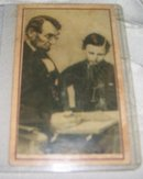 A Vintage Authenic  1860's  Portrait of Abraham Lincoln reading with his Son , Thomas,
