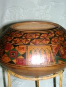 A  Vintage Early 1900's -Native American -Hopi Indian- Many Panel decorated with various designs Clay Pot