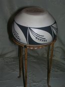 Native American Decorated Art Pottery Bowl  by Lois Johnson