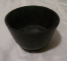 A Rare early 1900's Black Pottery Bowl=Signed ACUFF