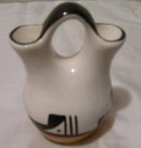 A Fluted Native American Signed wedding vase
