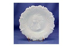 Milk Glass Plate, Indian Head - Westmoreland