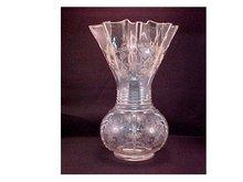 Etched Vase, New Martinsville Glass -