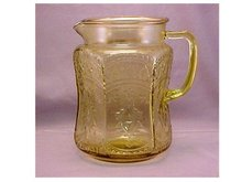 Pitcher, Federal Glass Co. -