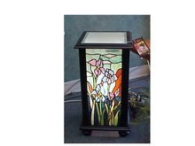 Lighted Stained Glass Accent Pedestal