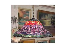 Hanging Stained Glass Lamp - Dale Tiffany