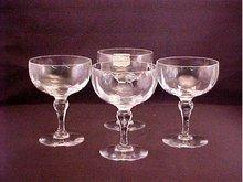Crystal Sherbets, Set of 4 - Thomas Webb