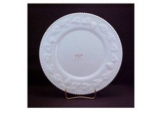 Milk Glass Dinner Plate -