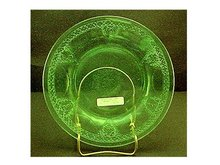 Green Luncheon Plate -