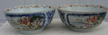 C. 1740-1760 CHINESE EXPORT PAIR EUROPEAN SUBJECT BOWLS