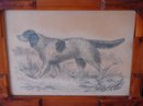 19TH CENTURY ENGLISH SPRINGER SPANIEL FOLK ART DRAWING