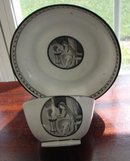 C. 1875 FRENCH GRISAILLE CUP/SAUCER