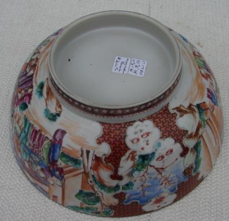 C. 1770 CHINESE EXPORT MANDARIN PALETTE BOWL 10