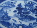 C. 1820 CHINESE EXPORT NANKING OVAL HOT WATER PLATTER