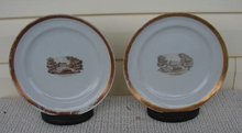 C. 1770 CHINESE EXPORT PAIR AMERICAN MARKET PLATES