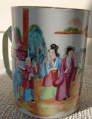 C. 1820 CHINESE EXPORT ROSE MANDARIN MUG