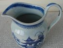 C. 1880 CHINESE EXPORT BLUE CANTON PITCHER/JUG
