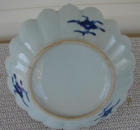 C. 1880 CHINESE EXPORT BLUE CANTON SAW TOOTH BOWL